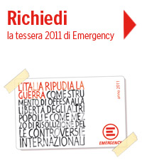 Richiedi on line la tessera 2011 di Emergency