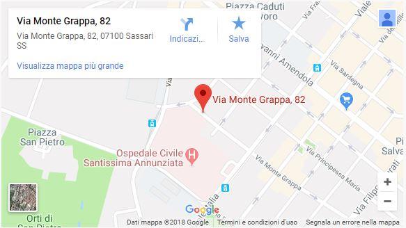 Mappa ambulatorio di EMERGENCY a Sassari