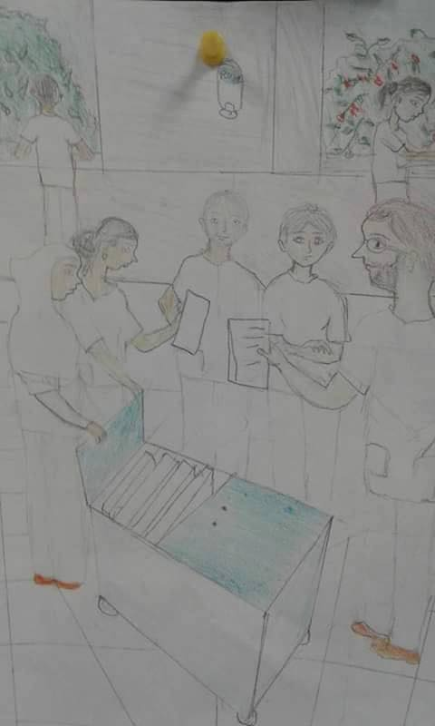 La corsia pediatrica del Centro Salam nel disegno di una nostra piccola paziente