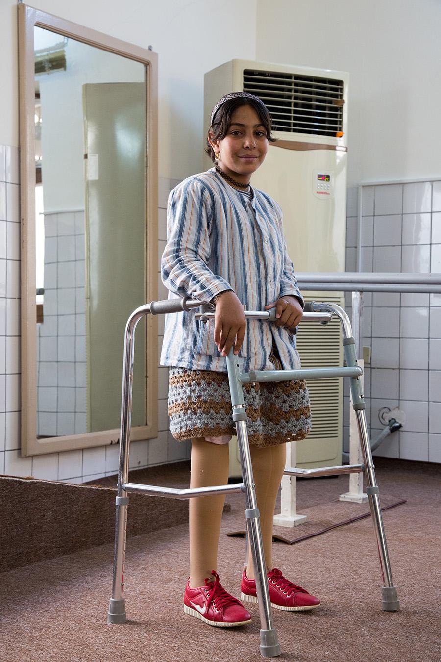 Ahlam nel nostro Centro di riabilitazione di Sulaimaniya in Iraq