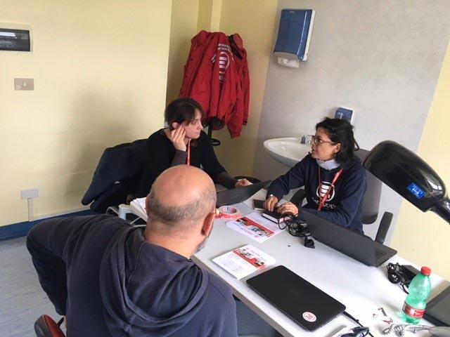 Lo staff del progetto di EMERGENCY a favore delle vittime del terremoto in provincia di Macerata