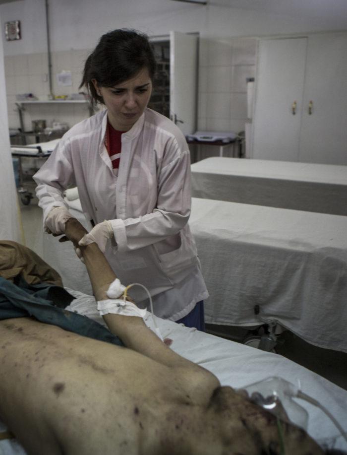 Graziana nel Centro chirurgico di EMERGENCY a Lashkar-gah in Afghanistan