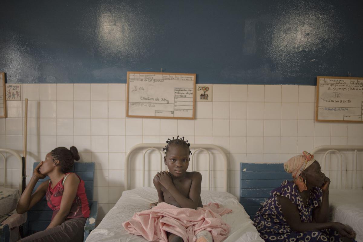 Una paziente del Complexe Pédiatrique di Bangui